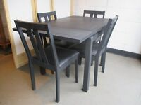 EXTENDING DINING TABLE WITH FOUR MATCHING DINING CHAIRS FREE DELIVERY