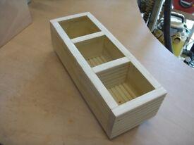 Handmade quality wood herb planter 46cm - NEW