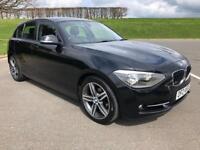 BMW 1 SERIES 1.6 116I SPORT 5d 135 BHP FULL BMW HISTORY, ONE YEARS MOT (black) 2013