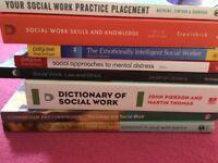 21 Social work books for sale.