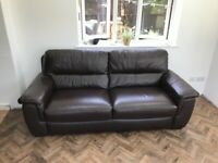 Leather Three Seater Sofa For Sale