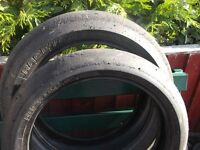 Yamaha r1 Pair of metzeler racetec racing slicks motorcycle tyres
