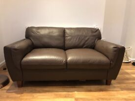 Brown Ikea Leather Couch