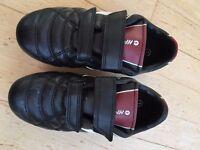 Kids black football / hockey boots by Hi-tec. Unisex. Size 1.