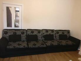 Large long sofa/ can be separated into 2 sofas