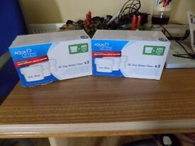 2 Boxes aqua optima 30 day filters 3 each box