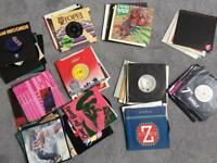 "Record Collection- over 80 7"" vinyl singles- mainly 80's- pop rock soul good condition £25ono"