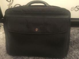 Black laptop bag briefcase