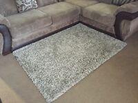Brown shaggy rug £35