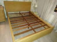 Rattan Bed Frame King Size - Habitat