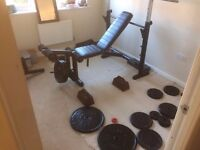 Marcy Heavy duty Bench Press with bicep and leg ext attachments