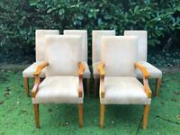 6 Upholstered Dining Chairs Solid, High Quality