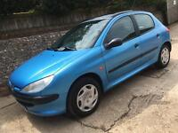 Peugeot 206 1.4 petrol cheap ideal first car with NEW mot