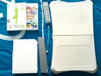 Nintendo Wii with Wii Fit, remotes and game (£100)