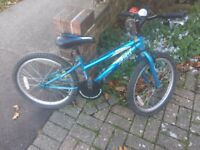 "Child's blue Apollo bike 20"" wheels"