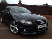 Audi A4 S-Line Saloon Very Low Mileage Superb Condition RAC Warranty Finance Available New MOT