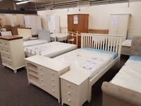 Barcelona Stone White Low Foot End Double Bed Can Deliver