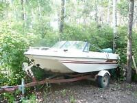 Boat, 90 HP Johnson Motor, Caulkin Trailer 0603945