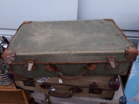 VINTAGE RETRO KITSCH SUITCASE DEMOB CASE DECORATORS PIECE UPCYCLE IN YEOVIL