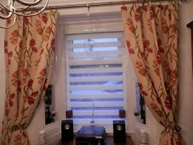 Lined curtains with four matching cushions 46x72