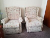 2 x Celebrity Woburn Recliner Fabric. Mobility, Disability