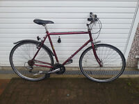 """Claud Butler Mens Hybrid Bike Large XL 23"""" Frame for 6ft plus! 21 speed road tyres. Commuter bicycle"""
