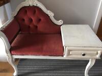 Lovely shabby chic telephone chair