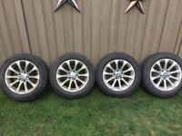 4-BMW continental winter tires on alloy rims