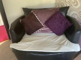 PVC swivel cuddle chair