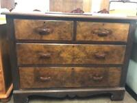 Solid wood vintage 2 over 2 chest of drawers