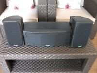 mission centre speaker 73c and surround sound speakers with brackets gwo