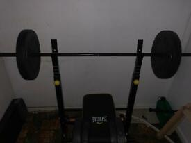 Dumbbells set with weight bench