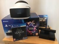 PS4 VR headset VR worlds bundle + 2 games (used but pristine)