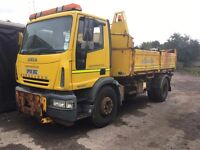 IVECO 180E24 4 WAY TIPPER WITH GRITTING SYSTEM 2005 OUT OF TEST ALL WORKING £4500 OFFERS
