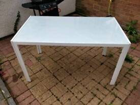 Dining Table White - Seats 6 - Table only, no chairs