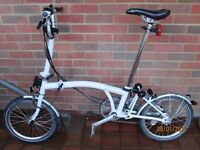 SAVE £250 --- Selling my 2016 White As-New ML3 Brompton Owned From New