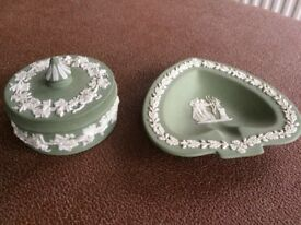 Wedgwood trinket box and ash tray