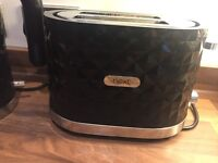 Next black high shine kettle and toaster