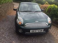 2008 Mini One in Racing Green/black cloth 2 Owners 54,058 miles