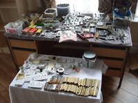 Joblot DIY mixture screws, hinges, brass parts, handles, switches etc etc