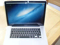 MacBook Pro 15 inch Quad core I7 8Gb Ram 500GB HD latest OSX Logic Pro X