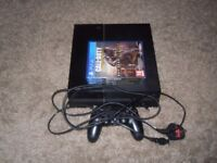 PlayStation 4 with Leads, Controller & Games