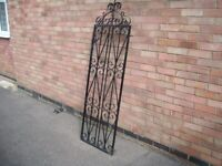 single metal /wrought iron garden / side entrance gate,very decorative with hinges