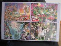 Fairy Quartet Jigsaws 4 x 500 pieces Brand New £5