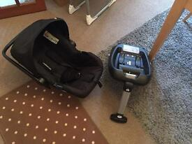 Mother care Roam car seat and isofix £40