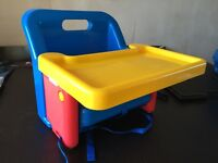 Baby portable, foldable chair - feeding, playing