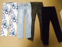 4 pairs of ladies trousers size 8