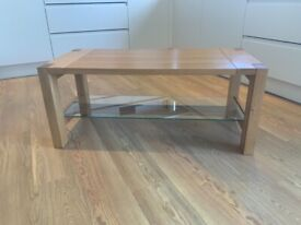 Oak & oak veneer coffee table