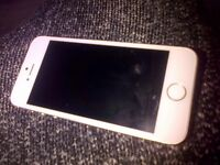 Iphone 5s in silver and white