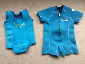 Baby Wetsuits x2 (Up To 12 Months)